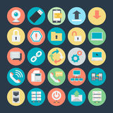 Networking Colored Vector Icons 2. The icon set is useful for Networking. It consist kind of all symbol that use networking and programing. Use the for your web Royalty Free Stock Photos