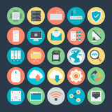 Networking Colored Vector Icons 1. The icon set is useful for Networking. It consist kind of all symbol that use networking and programing. Use the for your web Stock Images