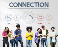 Networking Communication Connection Share Ideas Concept. People Using Internet Communication Connection Share Ideas Royalty Free Stock Photo