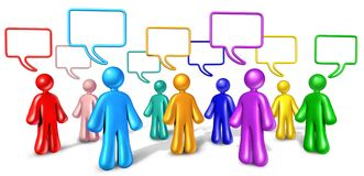 Networking Community communication. Community networking communication isolated on white royalty free illustration