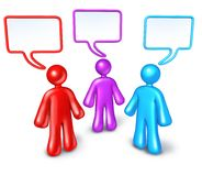 Networking Community communication Stock Images