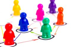 Networking concept. Networking, organizational groups or workgroups Royalty Free Stock Photos