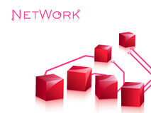 Networking concept. Internet communication concept idea with wired elements Stock Images