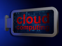 Networking concept: Cloud Computing on billboard background Royalty Free Stock Photo