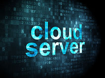 Networking concept: Cloud Server on digital background Stock Images