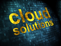 Networking concept: Cloud Solutions on digital background Stock Photos