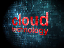 Networking concept: Cloud Technology on digital background Royalty Free Stock Photo