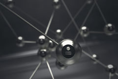 Networking concept. 3D abstract concept of networking Royalty Free Stock Photography