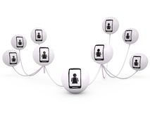 Networking concept, 3D Royalty Free Stock Photography