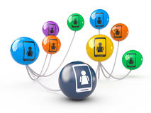 Networking concept, 3D Stock Photography