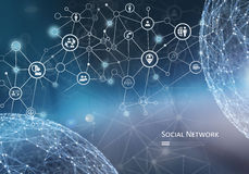 A networking concept royalty free stock photos