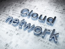 Networking concept: Silver Cloud Network on digital background Stock Photos
