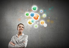 Networking concept Stock Photo