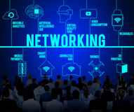 Networking Connected Drones Technology Concept stock photo
