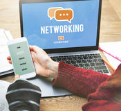Networking Connection Global Communications Online Concept Stock Images
