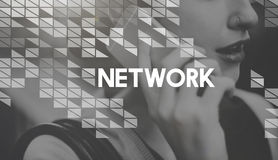 Networking Connection Online Sharing Net Concept Stock Photos