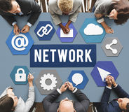 Networking Connection Social Online Concept Royalty Free Stock Image