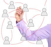 Networking diagram Stock Images
