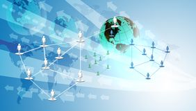 Networking and Digital Technology concept Royalty Free Stock Images