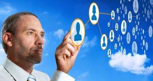 networking futurystyczny socjalny Obraz Stock