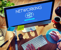 Networking Globalization Technology Internet Connect Concept Stock Photography