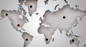 networking globalny symbol Zdjęcie Stock