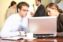 Networking - group of people cooperation Stock Images