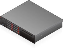 Networking hardware. An isometric icon of an blade server saved as an EPS version 10 Royalty Free Stock Image