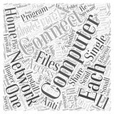 Networking Home Computers word cloud concept word cloud concept  background Royalty Free Stock Photos