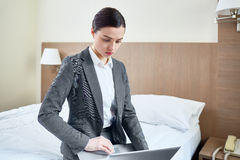 Networking in hotel room Stock Photography