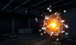 Networking i radio związek Mieszani środki Zdjęcie Stock