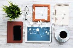 Networking i socjalny komunikaci pojęcia Zdjęcia Stock