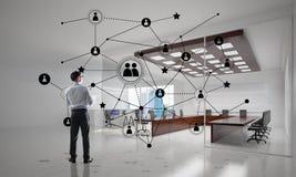 Networking i socjalny komunikacyjny pojęcie jak wydajnego punkt dla nowożytnego biznesu ilustracja wektor