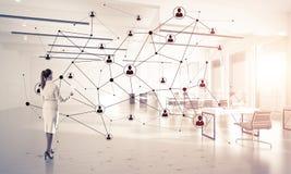 Networking i socjalny komunikacyjny pojęcie jak wydajnego punkt dla nowożytnego biznesu zdjęcie royalty free