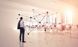 Networking i socjalny komunikacyjny pojęcie jako wydajny punkt f obrazy royalty free