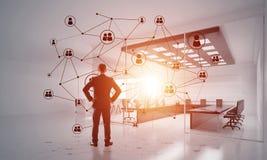 Networking i socjalny komunikacyjny poj?cie jak wydajnego punkt dla nowo?ytnego biznesu ilustracja wektor