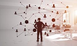 Networking i socjalny komunikacyjny poj?cie jak wydajnego punkt dla nowo?ytnego biznesu obraz royalty free