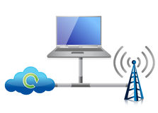 Networking icon Royalty Free Stock Image