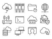 Networking icons set Stock Images