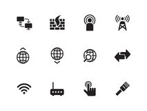 Networking icons on white background. Royalty Free Stock Images