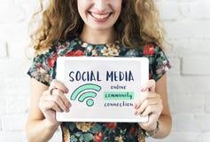 Networking komunikacyjny związek Dzieli pomysłu pojęcie Obrazy Royalty Free