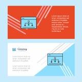 Networking korporacyjnego biznesu sztandaru abstrakcjonistyczny szablon, horyzontalny reklamowego biznesu sztandar ilustracji