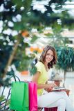 Networking in the mall Stock Photography