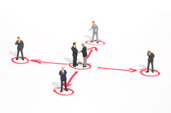 Networking metaphor. Networking of businessmen team metaphor Stock Image