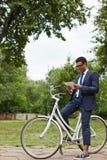 Networking na bicyklu Obraz Royalty Free