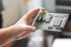 Networking narzędzia, modem karta obraz stock
