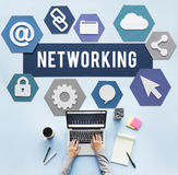 Networking Network Internet Connection Concept Royalty Free Stock Photography