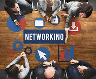 Networking Network Internet Connection Concept Stock Photo