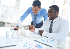 Networking in office Stock Images