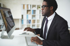 Networking in office Royalty Free Stock Photo